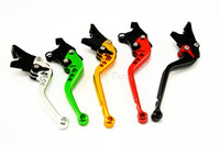 Wholesale Clutch Lever For Zx9r - 2pcs CNC Long&Short Adjuster Brake Clutch Levers For ZX6R ZX636R ZX6RR ZX10R Z1000 VERSYS1000 ZZR600 ZX9R ZX12R Free Shipping