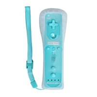 Wholesale Nunchuck Wireless Remote Game Controller - Game Motion Plus Remote Nunchuck Controller Wireless Gaming Nunchuk Controllers with Silicon Case Strap For Nintendo Wii Console Joystick