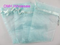 Wholesale Chinese Jewelry Bags Green - OMH wholesale 50pcs Dark blue pink green 17x23cm nice chinese voile Christmas Wedding gift bag Organza Bags Jewlery Gift Pouch BZ11-2