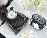 ingrosso elegante specchio bianco nero-(20 pezzi / lottp) Bridal Shower Bomboniere per feste di riflessione Elegante Bomboniere in damasco nero e bianco