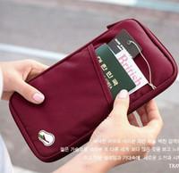 Wholesale Document Protector - Fashion Passport Credit ID Card Cash Wallet Purse Holder Case Document Passport Cover Holders Documents Bag Wallet Passport Holder Protector