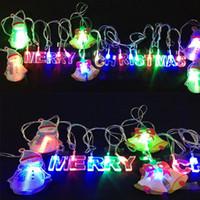Wholesale Snowman Bells - US EU Plug led DECORATION string lights rgb christmas bell deer snowman santa claus modelling strings led 4 meter 20leds