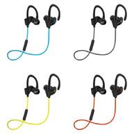 Wholesale New Waterproof Iphone - new Bluetooth Earphones Stereo Bass 56s Headset Sport Earpieces Ear Waterproof Headphones Hook Earbuds With Mic for nate8 iphone x 8 7