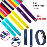Wholesale Silver Silicone Bracelets - 18color Newest Wrist Wearables Silicone Straps Band For Fitbit Alta Watch Classic Replacement Silicone Bracelet Strap Band (No Tracker)