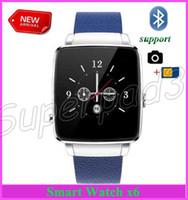kinder mode bilder großhandel-30pcs geben Verschiffen-neuestes Art- und Weisegeschäfts-intelligente Uhr-Bluetooth-Fernbild-Uhr-Telefon X6 für androides iOS mit Kamera-Pedometer-Zeit frei