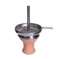 Wholesale Hookah Shisha Charcoal - Smoking Dogo High Quanity Shisha Clay Bowl Hookah Bowls with Charcoal Holder Hookah Head with Grommet