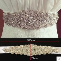 Wholesale Wedding Dresses 28 - 2016 David S1067 Bridal Waistband Heavily Encrusted luxurious Rhinestone Bridal Wedding Dresses Sash Wedding accessories Belts