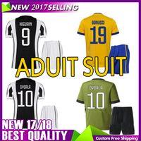 Wholesale Del Boy - 17 18 los mejores jerseys 2018 del fútbol del kit de DYBALA de la calidad Camisas de Marchisio D.COSTA BONUCCI HIGUAIN Envío libre