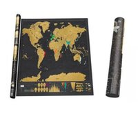 Wholesale Log Off - 2017 DIY Luxury Journal Log Gift Travel Edition Scratch Off World Map Poster Durable size 32.4in*23.3in