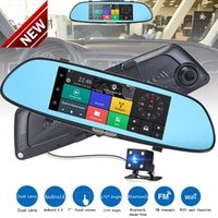 Wholesale high quality video recorder - New High Quality HD 1080P 7'' Car DVR Video Recorder G-sensor Dash Cam Rearview Mirror Camera DVR Free Shipping
