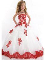 Wholesale Chiffon Plus Size Day Dresses - Lovely Flower Girls' Dresses 2016 new round neck chiffon girl princess dress beaded lace decals elegant fashion flower girl Dress plus size
