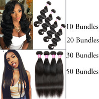Straight Brazilian Hair Body Wave 10/20/30/50 Bundles Unprocessed Peruvian Virgin Human Hair Wefts Malásia Indian Hair Wholesale Price