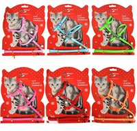 Moda Nylon Dog Pet Imbracatura Con Perla Piccola Cute Dog Piombo Corda per Piccolo Gatto Teddy Top Quality Training Guinzaglio Collare 10 PZ / LOTTO