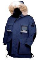 chaquetas de plumas de ganso verde al por mayor-Navidad Green Day 2019 chaqueta de nieve Mantra Parka Abajo invierno de calidad superior del ganso capa de los hombres de Down Parka con capucha con fur Venta Canadá Ártico