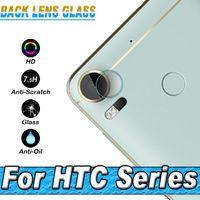 Wholesale Film Camera Case - NEW flexible Rear Transparent Back Camera Lens Tempered Glass Film Protector Case For HTC U11  HTC Desire 10 pro Desire 10