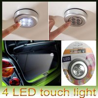 4 LED-Stick Tap Touch Nachtlicht Akku-Akku Powered Cabinet Car Trunk Closet Sense Lampe Home Notfall Wandleuchten