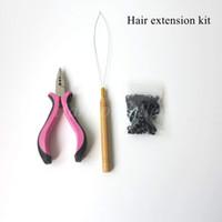 микро-кольца бисер для наращивания волос оптовых-Розовый цвет 1шт микро кольцо волос плоскогубцы микро бисер применить / мини розовый плоскогубцы для микро кольцо волос расширения