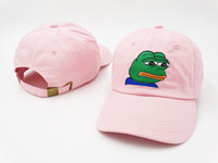 Wholesale Sip Drink - SAD Kermit Tea Hat The Frog Sipping Drinking Tea Baseball Dad Visor Cap Emoji New lebron james meme hiphop baseball hat