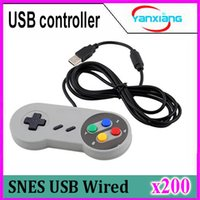 200pcs 2017 estupendo para el USB de Joypad de Gamepad Joypad de la PC de SNES de Nintendo Famicom SF para Windows para la venta al por mayor ZY-PS3-17 de la PC