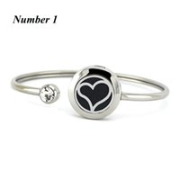 Wholesale Heart Locket Bracelets - New heart shape design 20mm Stainless Steel Perfume Locket Bangles Aromatherapy Essential Oil Diffuser Locket Bracelet For Women