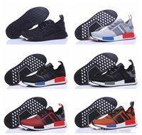 Wholesale Cheap Cotton Canvas Fabric - 2016 Cheap wholesale NMD Original Runner Primeknit all Black men Sports Running Shoes gold NMD Runner PK athletic shoes size 40-44