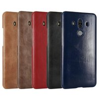 Wholesale Huawei Ascend Mate Flip - For Huawei Mate 10 Pro Case Ultra-Thin Back Cover Luxury Original Flip Genuine Leather Case For Huawei Ascend Mate 10 Pro