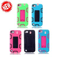 Para Apple Ipod Touch 5 6 Touch6 Touch5 Estojo de capa de armadura híbrida Hard PC Silicone 3 em 1 Robot Shockproof Heavy Duty Defender skin Back Luxury
