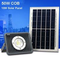 panel reflector al por mayor-Luces de inundación solares al aire libre LED 50W Fundición de aluminio 70-85LM Lámparas Impermeable IP65 Iluminación Reflector Panel de batería Energía Shenzhen China