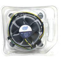 intel soğutucu fan toptan satış-Intel 1155 1156 1150 için yeni Orijinal 775 alüminyum radyatör 4 Teller PWM Bilgisayar CPU Soğutucu fan