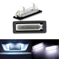 Wholesale smart car rear online - 2 Led Car Styling Canbus No error Code License Plate Lamp Fit For Smart Fortwo Rear Number Plate Light Bulbs Auto Accessory