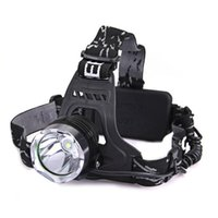 Wholesale led cree headlamp - CREE XM-L T6 LED Flashlight Headlight Head Lamp Light Rechargeable 18650 + Charger For Hiking Fishing Outdoor