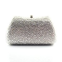 Wholesale Evening Clutch Crystals - Wholesale-2015 New Heart Shape Pattern Full crystal ladies clutch evening bags