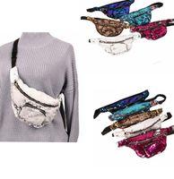 Wholesale Womens Travel Purse - Womens Mermaid Fanny Pack Waist Bag Travel Hip Purse Zip Pouch Shoulder Bags Mermaid Glitter Waist Bum Bag LJJK741