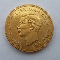 Wholesale Wholesale Vi - RARE 1937 GREAT BRITAIN KING GEORGE VI PROOF GOLD 2 POUNDS COIN Promotion Cheap Factory Price nice home Accessories Silver Coins