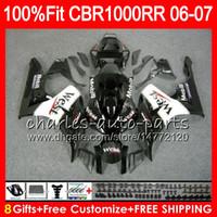 Wholesale West Fairings - Injection Body For HONDA CBR 1000RR CBR1000 RR 06 07 Bodywork Black west 78HM24 CBR1000RR 06 07 CBR 1000 RR 2006 2007 Fairing kit 100% Fit