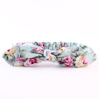 Wholesale Elastic Lace Headbands Rose - Lovely Bunny Ear Headband Scarf Cotton Rose floral Hair Head Band Cotton Bow elastic Knot Headband rabbit baby hair accessories headwrap