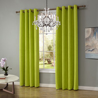 Wholesale Green Window Curtains - 140*220Cm Sheer Curtains Living Room Bedroom Curtains Simplicity Vertical Hanging Blackout Window Curtain 6 Colors Punch Drapes Wholesale