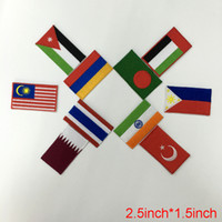 Wholesale Country Patch - Asian countries flag sport Clothes patch Apparel Sewing & Fabric cute Letter fashion iron on patches for clothing free shipping