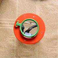Alta qualidade 4X Two Lens Insect Viewer Locket Box Bidirectional Observe Inspect Magnifier Bug Lupa de lupa Kid Toy Gift