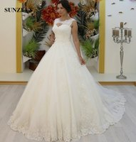 Wholesale Tank Style Bridal Gown - New Luxury Beaded Appliques Wedding Dresses 2017 Turkey Style Gelinlik Ball Gown Scoop Tank Puffy Tulle Bridal Gowns Elegant Dress For Bride