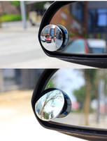 blind spot mirror toptan satış-2 ADET Araba Dikiz aynası küçük yuvarlak ayna Kör nokta ayna Geniş açılı lens 360 Derece ayarlanabilir Dikiz yardımcı
