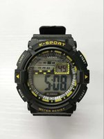 Wholesale Digital Display Waterproof - 2016 New Casual Mens LED Watches Business Watches Dual Display Digital Round Shape Watches Waterproof Watches
