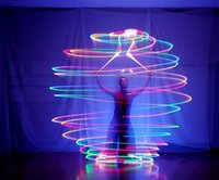 renk topları toptan satış-LED Oryantal Dans Sahne El Sahne Sıcak Satış Kadınlar Için Led Poi Atılmış Topları Aksesuarları Özel Sahne 7 Renkler Işık Parlaklık Gece Kulübü Perfo