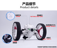 Wholesale Mini Electric Cables - Mini Bounce Car PEG SJ88 RC Cars 4CH 2.4GHz Strong Jumping Sumo RC Car with Flexible Wheels Remote Control Robot Car for Gifts