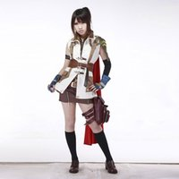 Wholesale Military Dress Xxl - Final Fantasy 13 Cosplay the Guardian Corps Lightning Cosplay Costumes Military Fancy Dress for Women Halloween Party