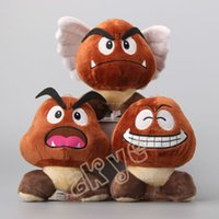 3pcs / Lot Goomba 6 polegadas 15cm presentes Super Mario Bros Plush Dolls Bichos de pelúcia Mais de Atacado 005