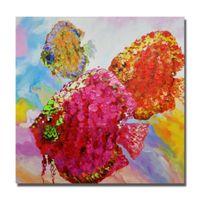 poisson peinture à l'huile achat en gros de-1Panel Abstrait Poisson Peinture Chambre Décoration Moderne Photos sur Toile Peint À La Main Peinture À L'huile Moderne Toile Art Non Encadré