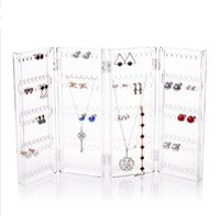 2017 New Arrival clear Jewelry Display Organisateur de bijoux en plastique Earring Organizer Acrylic Jewelry Organizer Holder