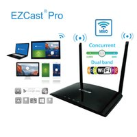 Wholesale Build Tv Antenna - EZCast Pro Box Wireless Presentation Box 4 to 1 Projection Media Streaming Smart TV Box Build-in 10M 100M Ethernet Dual Antenna