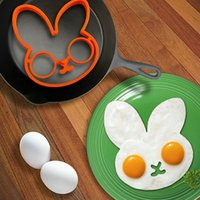 Wholesale Egg Cartoons - High Quality 1 PCS Orange Silicone Bunny Cartoon Fried Fry Egg Frame Breakfast Mold Kitchen Tool Egg and Pancake Rings order<$18no track